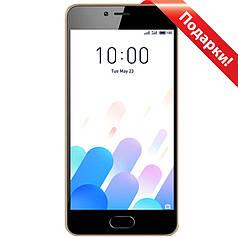 "☞Смартфон 5"" Meizu M5C, 2/16GB Золотистый Android 7 камеры 8 Мп 3000 mAh 2.5D + селfи в подарок"