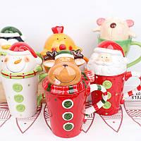 Кружка Санта/ чашка Дед мороз (новогодняя чашка)