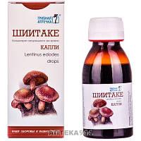 Капли Гриб Шиитаке Грибная аптечка для общего укрепления организма и снижения холестерина в крови флакон 100 мл