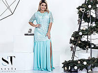 Платье (50-52,52-54,54-56) —Гипюр +шифон+атлас купить оптом и в розницу в одессе  7км