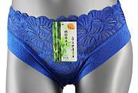 Трусики женские бамбуковые с узким бедром синие, фото 1