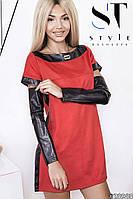 Платье (42, 44, 46) —замша на трикотажной основе и эко кожа купить оптом и в розницу в одессе  7км