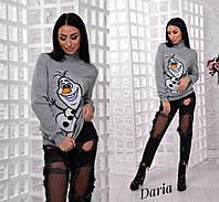 Вязаный женский свитер с высоким горлом и рисунком 5504223