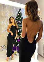 Длинное вечернее платье с глубоким вырезом на спине 2703757