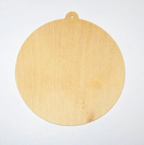Заготовка фанерная 10 см, Елочный шарик
