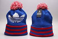 Синяя шапка с бубоном Adidas Originals
