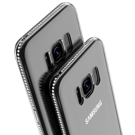 Силиконовый чехол для Samsung Galaxy S8 G950 со стразами