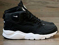 Зимние кроссовки Nike Air Huarache Winter Black/White, найк хуарачи