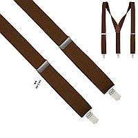 Подтяжки Bow Tie House мужские коричневые 3.5 см Y 03803