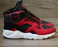 Зимние кроссовки Nike Air Huarache Winter Black/Red, найк хуарачи