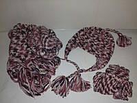 Шапка шарф варежки-митенки Terranova
