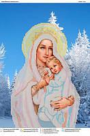 """""""Дева Мария в зимнем лесу"""" Схема для вышивки бисером"""