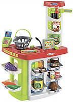 Продуктовый супермаркет Chef с кассой, корзинами и продуктами