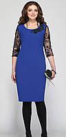 Платье Matini-31036 белорусский трикотаж, синие тона, 52