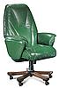 Кресло офисное руководителя классика БОНУС натуральная кожа, фото 2