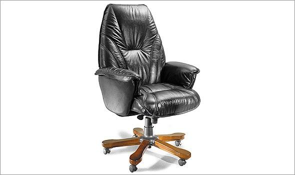 Кресло офисное руководителя классика БОНУС натуральная кожа