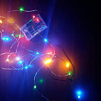 Гирлянда светодиодная на батарейках RGB цветная