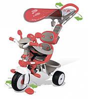 Детский металлический велосипед Вояж с козырьком, багажником и сумкой Smoby