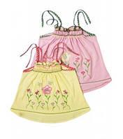 Блуза -топ для девочек+вышивка Артикул 38.0411