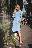Легкое практичное повседневное платье Gunilla с глубоким декольте (7 цветов)