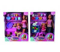 Кукла Steffi и Evi с животными Simba