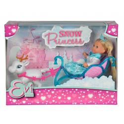 Кукольный набор Эви Снежная принцесса с санями и оленем 5737248