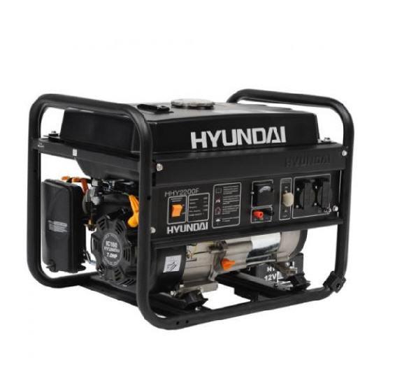 Бензиновый генератор hyundai hhy 3000fe + счетчик моточасов и электропуск