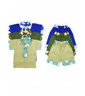 Комплект для мальчиков рубашка с галстуком+шорты Артикул 38.0321