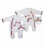 Комплект ясельный для девочек+вышивка Артикул 38.0080