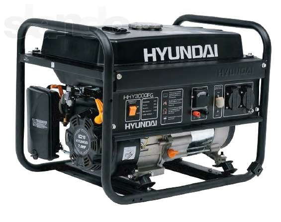 Бензиновый генератор hyundai hhy 3000fg + счетчик моточасов газ/бензин