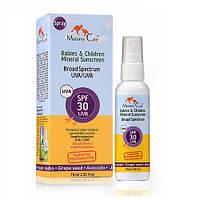 Минеральный органический солнцезащитный детский лосьон-спрей Mommy Care