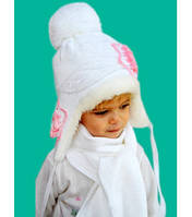 Шапка Лилия зимняя с шарфом от 2-х до 8-ми лет Артикул 37.1055-1
