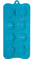 Силиконовая форма для льда,шоколадных и желейных конфет  21*10,5 см Морской мир