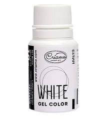 Краситель пищевой гелевый Белый, Criamo, 10 г