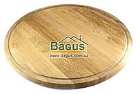 Деревянная подставка 45см (дуб) под пиццу, сковороды