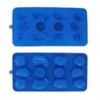 Силиконовая форма для льда,шоколадных и желейных конфет  21*10,5 см Фрукты
