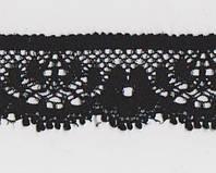 Кружево № 2084-1617 siyah 2,3 см