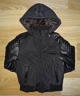 Куртки для мальчика на синтепоне и меховой подкладке Grace, 8-16 рр. арт.B41801