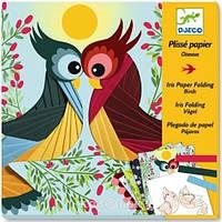DJECO Художественный комплект декорирование гофрированной бумагой Птицы