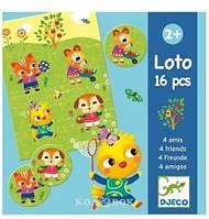 DJECO Игра детское лото 4 друзей