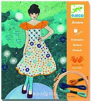 DJECO Художественный комплект вышивка Вечерняя мода