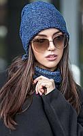 Женский комплект шапка и шарф-хомут Melange (разные цвета)