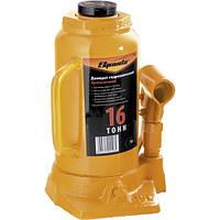 Домкрат гидравлический бутылочный, 16 т, h подъема 220-420 мм// SPARTA 50327