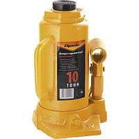 Домкрат гидравлический бутылочный, 10 т, h подъема 200-385 мм// SPARTA 50325