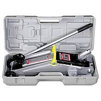 Домкрат гидравлический подкатный, 2 т, h подъема 135–385 мм, в пласт. кейсе// MTX MASTER 51028