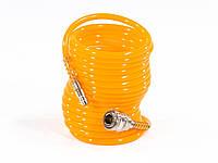 Шланг спиральный воздушный, 5 м, с быстросъемными соединениями// MTX 57002