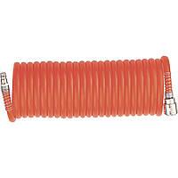 Шланг спиральный воздушный, 10 м, с быстросъемными соединениями// MTX 57004