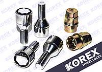 Болты секретки М12x1.25x24мм Конус (ВАЗ,Fiat,Peugeot,Citroen) с Вращающимся кольцом Korex