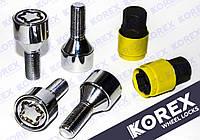 Болты секретные М12x1.5x28мм Конус (BMW,Daewoo,Opel,Renault) с вращающимся кольцом Korex Premium