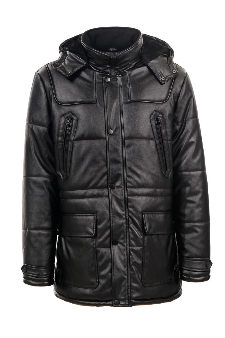 Мужская удлиненная теплая матовая куртка
